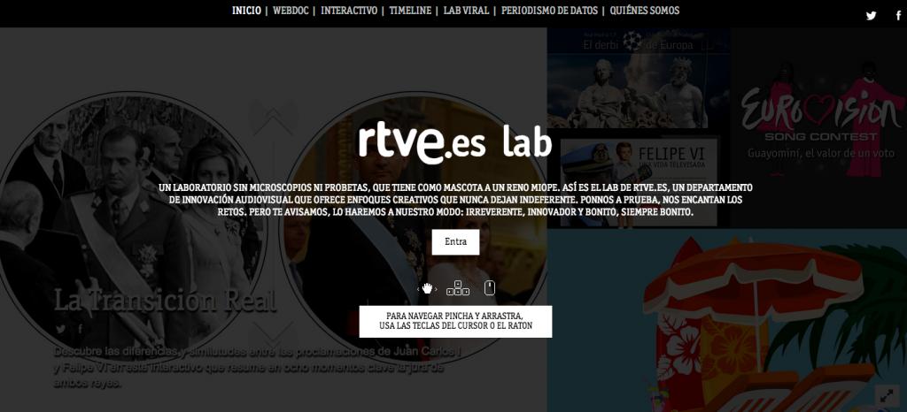 LAB RTVE.es, un laboratorio de innovación audiovisual