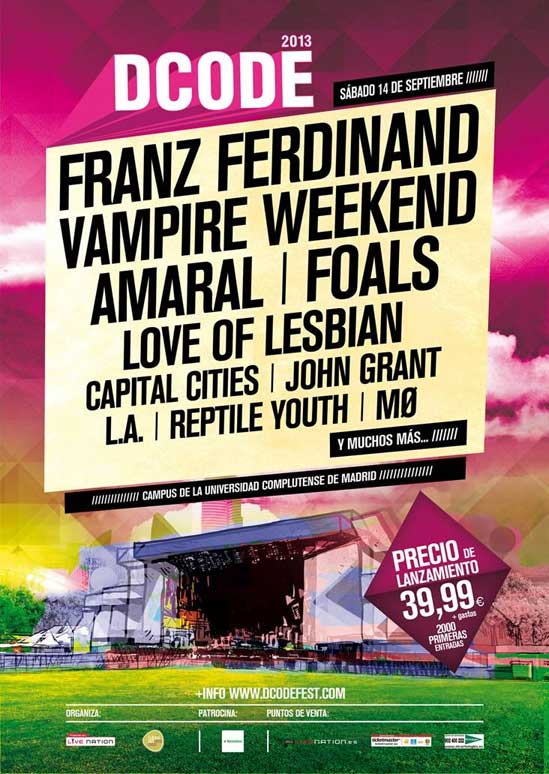 El cartel del Dcode Fest 2013