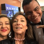 Arturo Paniagua con Yolanda Flores y Carmen Machi en los Goya