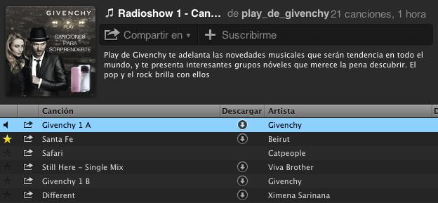El Radioshow de Play de Givenchy en Spotify